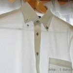 青山 CHRISTIAN ORANI 【清涼(R)】ボタンダウンドレスシャツ
