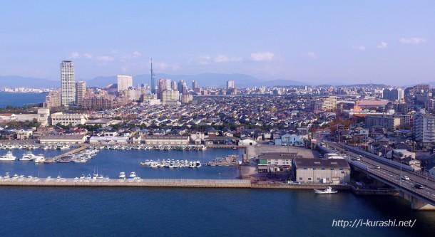 マリノアシティ福岡観覧車からの眺め