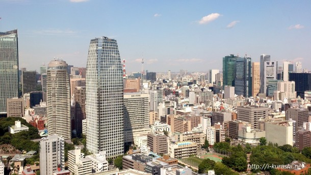 東京タワーからの眺め