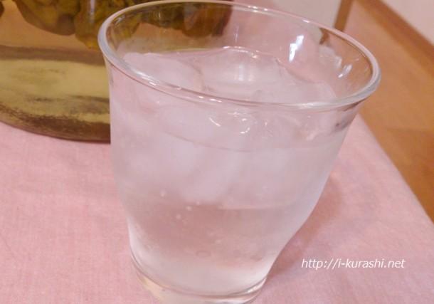 梅シロップのソーダ割り(梅ジュース)